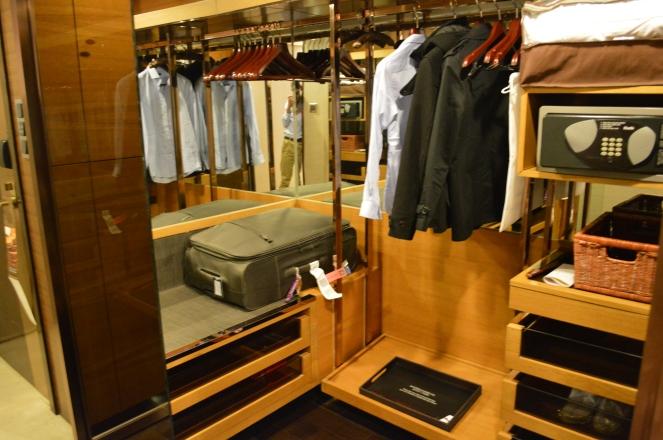Large walk-in wardrobe