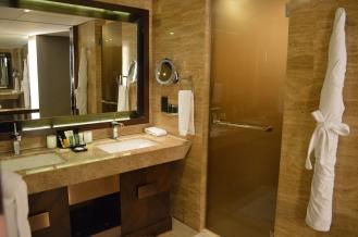 Main bathroom area (2 sinks)