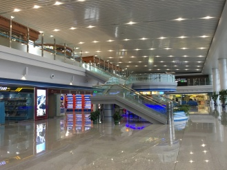 Terminal area with limited stores upstairs