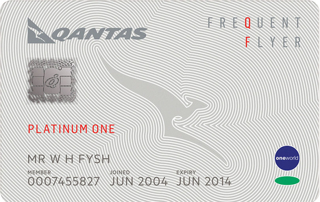 qantas-platinum-one-membership-card