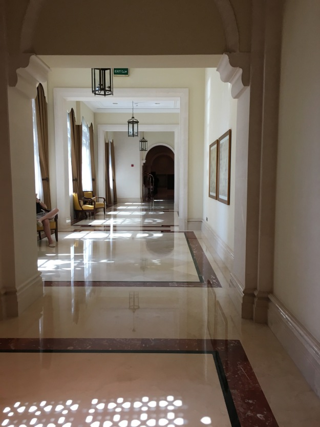 Walkway leading to rooms